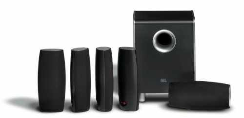 JBL CS6100BG High-Performance Complete 6-Piece Home Theater Speaker System with Brackets