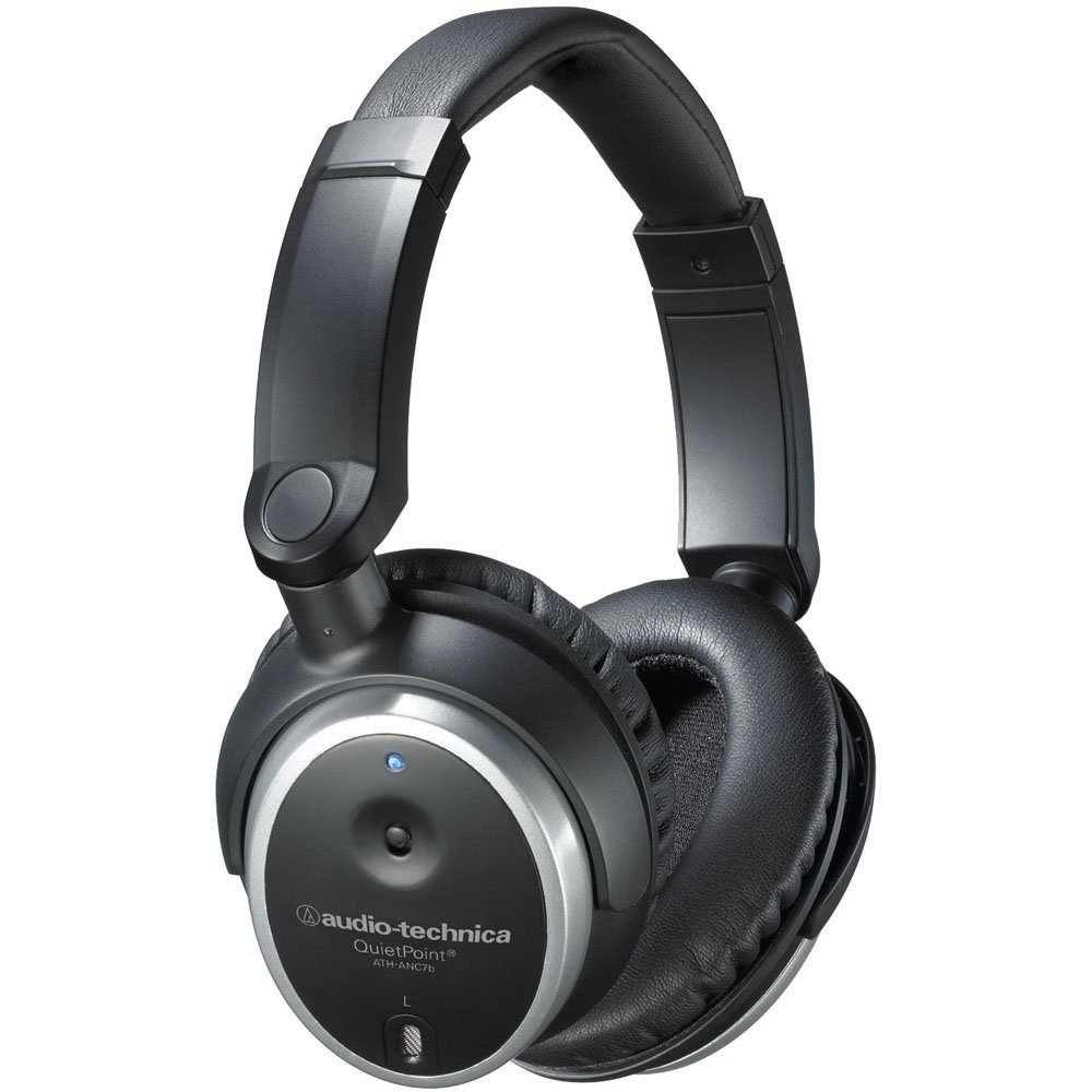Audio-Technica ATH-ANC7B QuietPoint Active Noise-Cancelling Closed-Back Headphones